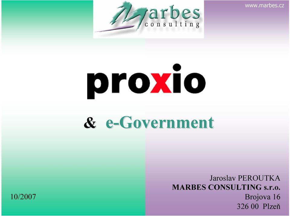 MARBES CONSULTING s.r.