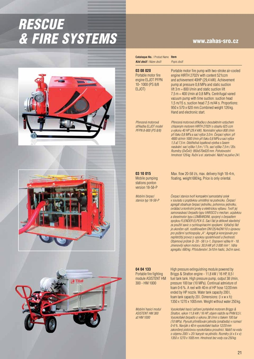 2702V with content 521ccm and achievement 40HP (29,4 kw). Achievement pump at pressure 0,8 MPa and static suction lift 3 m = 800 l/min and static suction lift 7,5 m = 400 l/min at 0,8 MPa.
