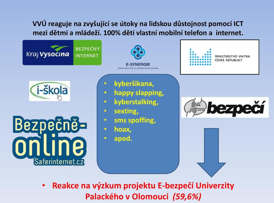 kyberšikana, happy slapping, kyberstalking, sexting, sms spoffing, hoax,