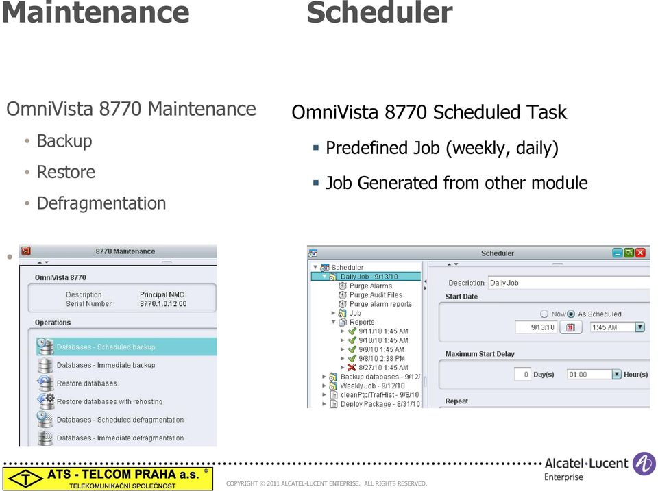 OmniVista 8770 Scheduled Task Predefined