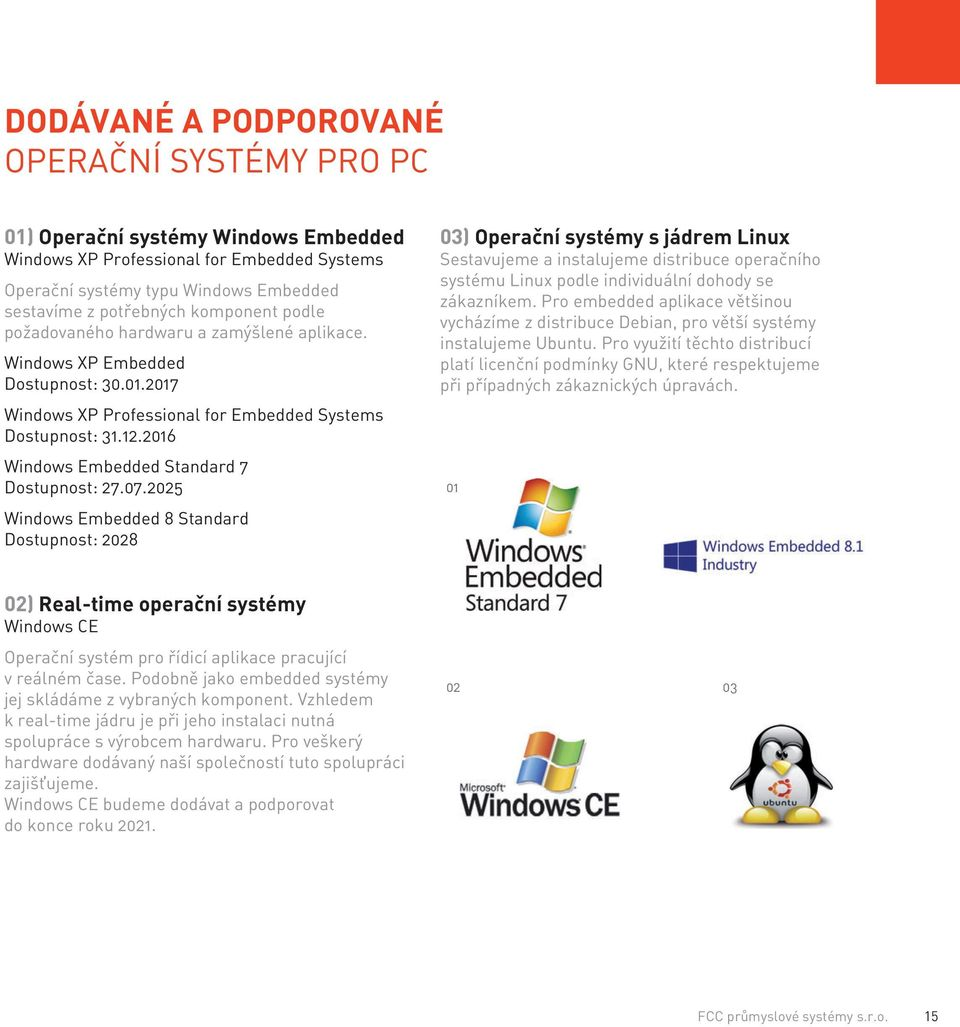 2016 Windows Embedded Standard 7 Dostupnost: 27.07.