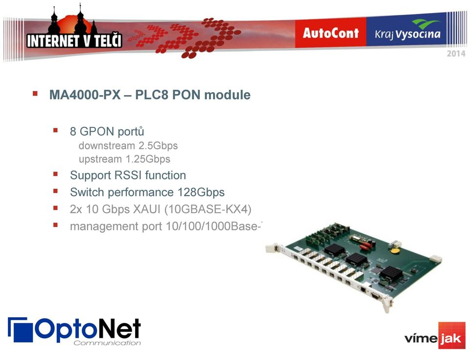 25Gbps Support RSSI function Switch