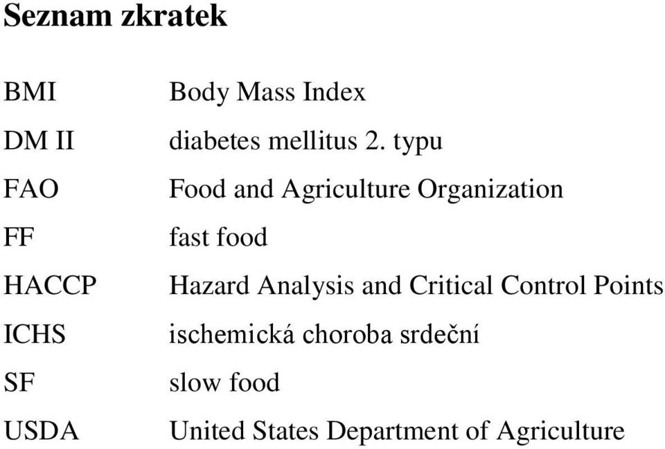 typu Food and Agriculture Organization fast food Hazard Analysis