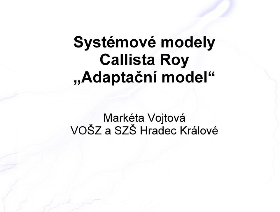 Adaptační model