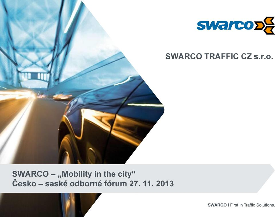 SWARCO Mobility in the