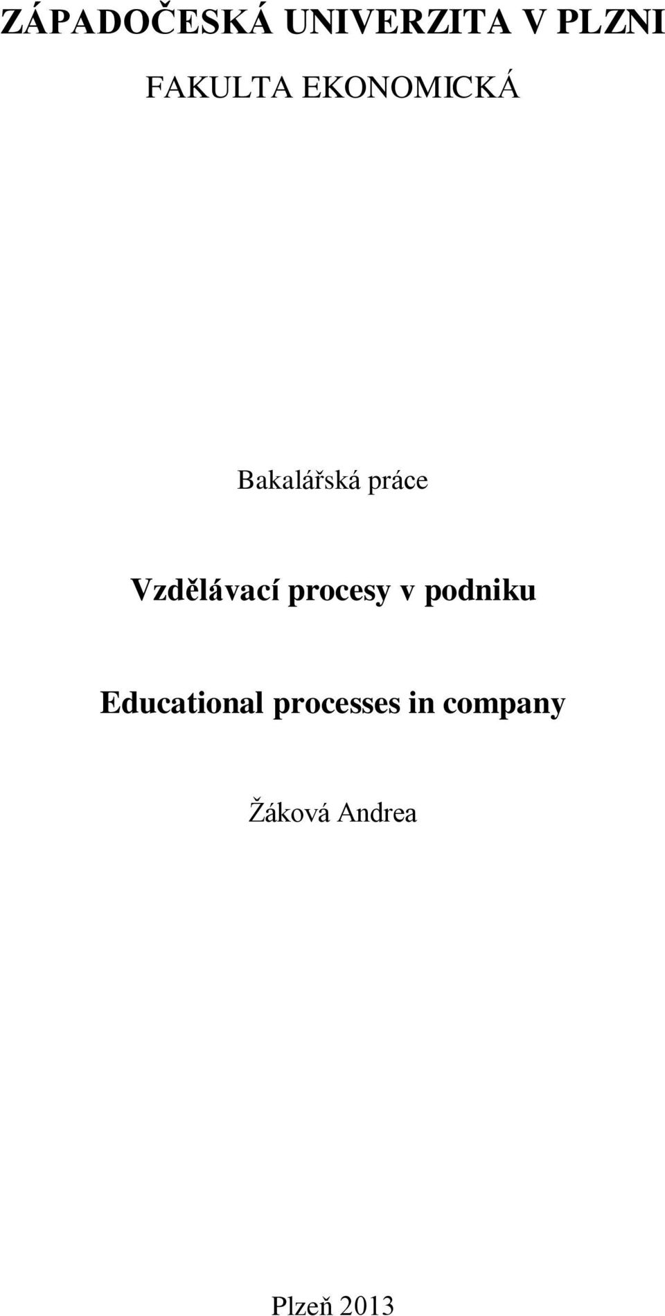procesy v podniku Educational