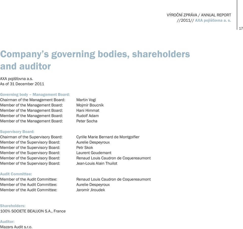 governing bodies,