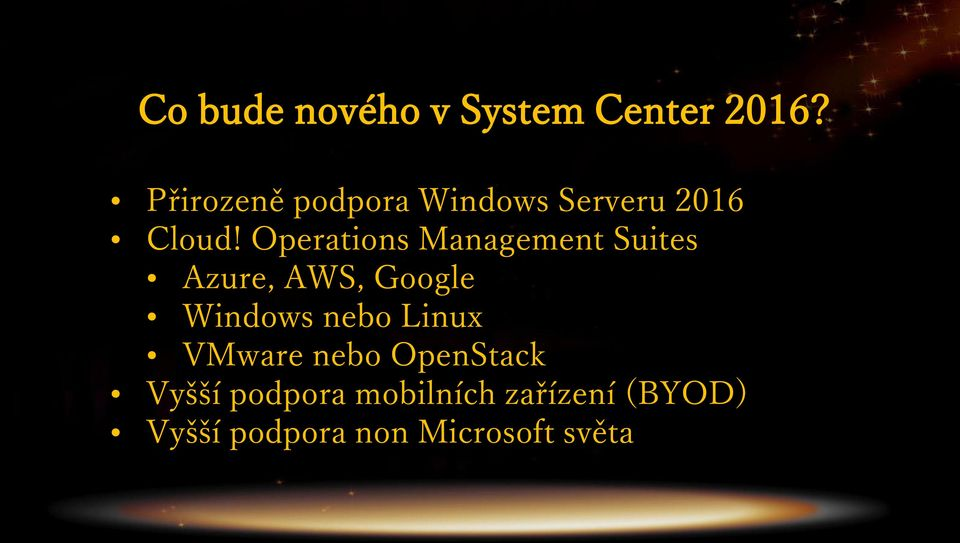 Operations Management Suites Azure, AWS, Google Windows nebo