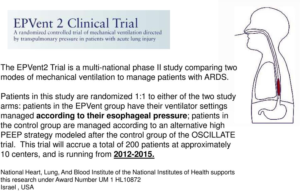 pressure; patients in the control group are managed according to an alternative high PEEP strategy modeled after the control group of the OSCILLATE trial.