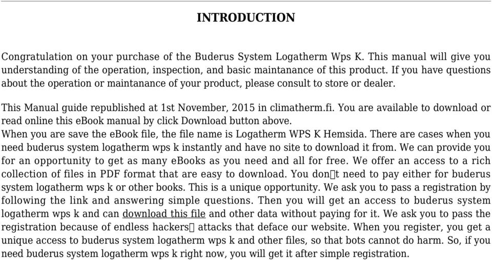 You are available to download or read online this ebook manual by click Download button above. When you are save the ebook file, the file name is Logatherm WPS K Hemsida.