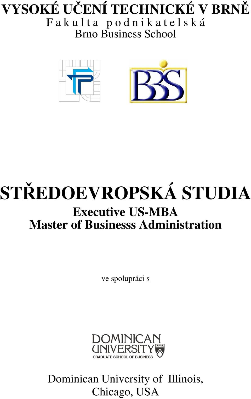 Executive US-MBA Master of Businesss Administration ve