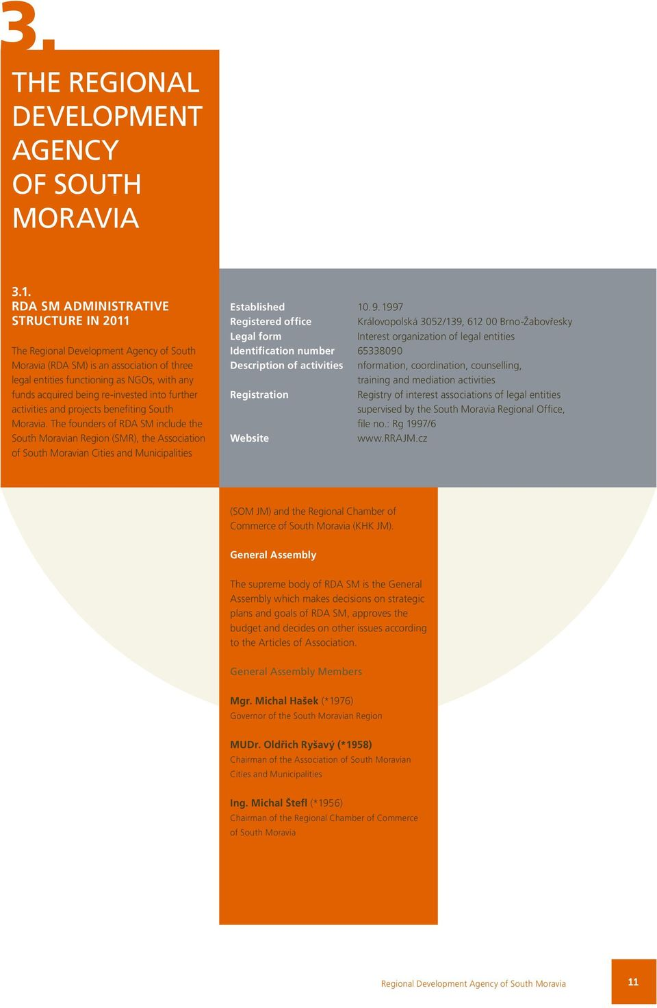 re-invested into further activities and projects benefiting South Moravia.