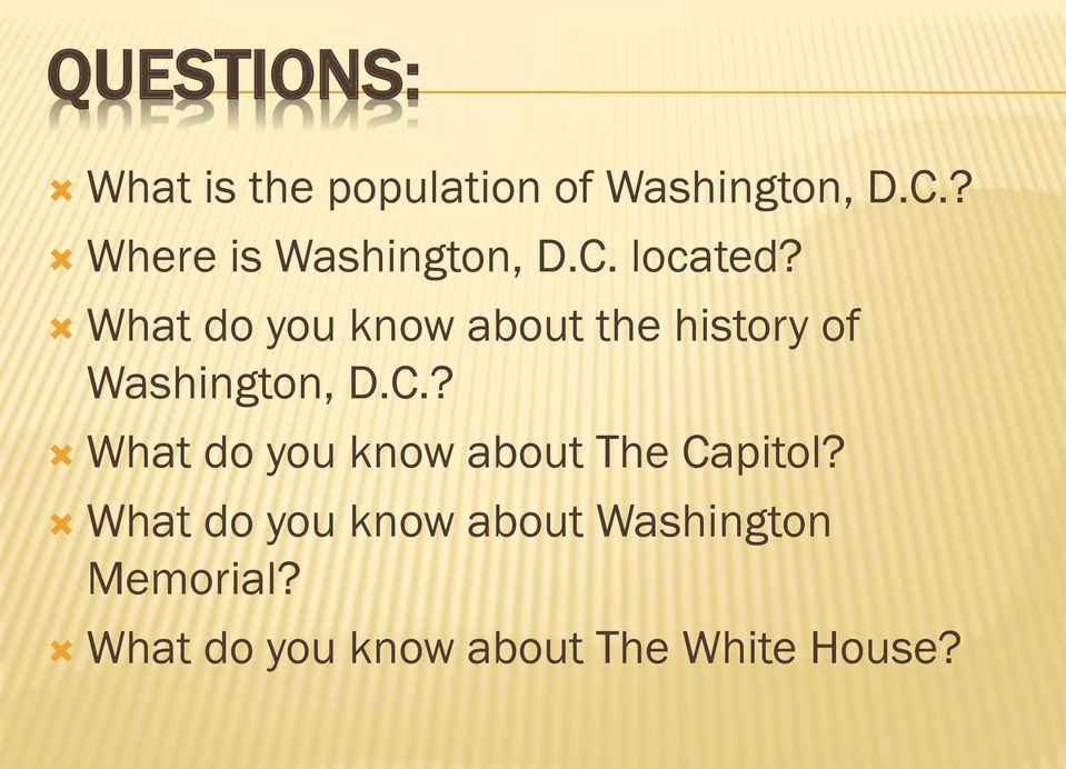 What do you know about the history of Washington, D.C.