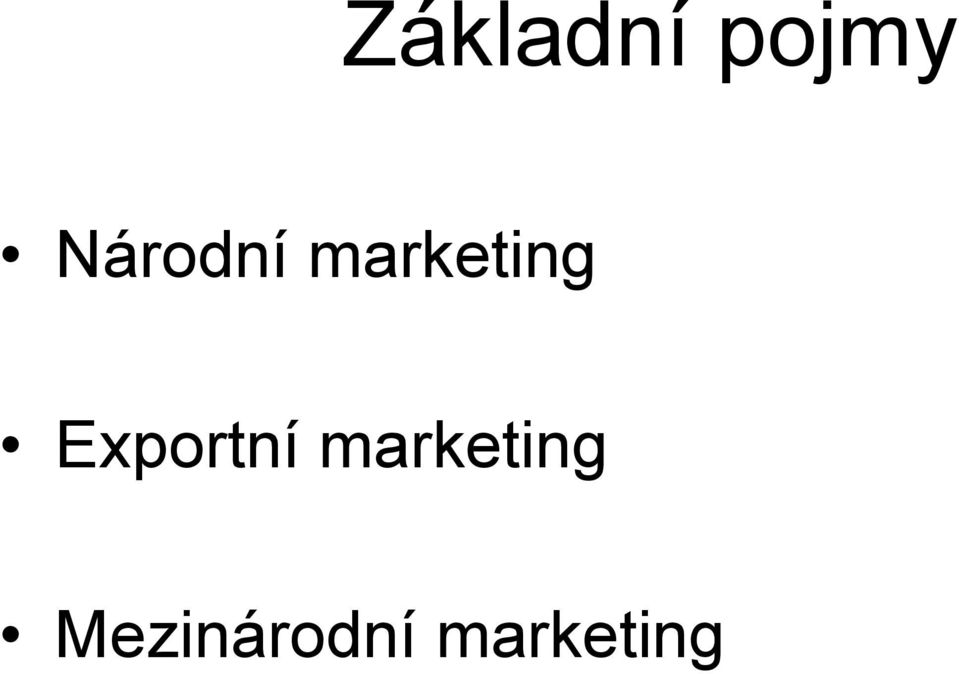 Exportní marketing
