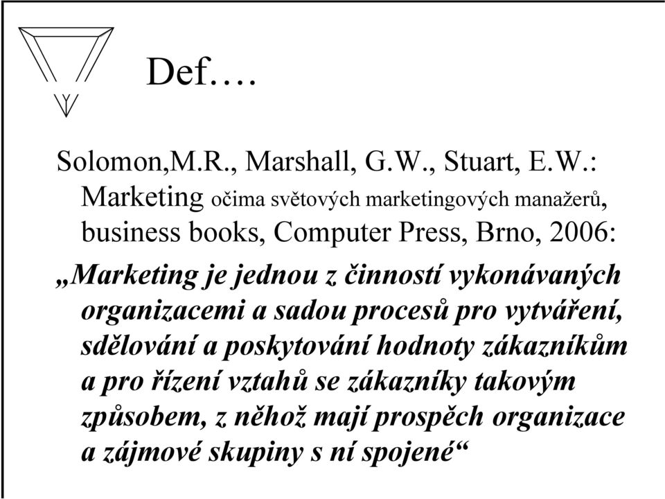 : Marketing očima světových marketingových manažerů, business books, Computer Press, Brno, 2006:
