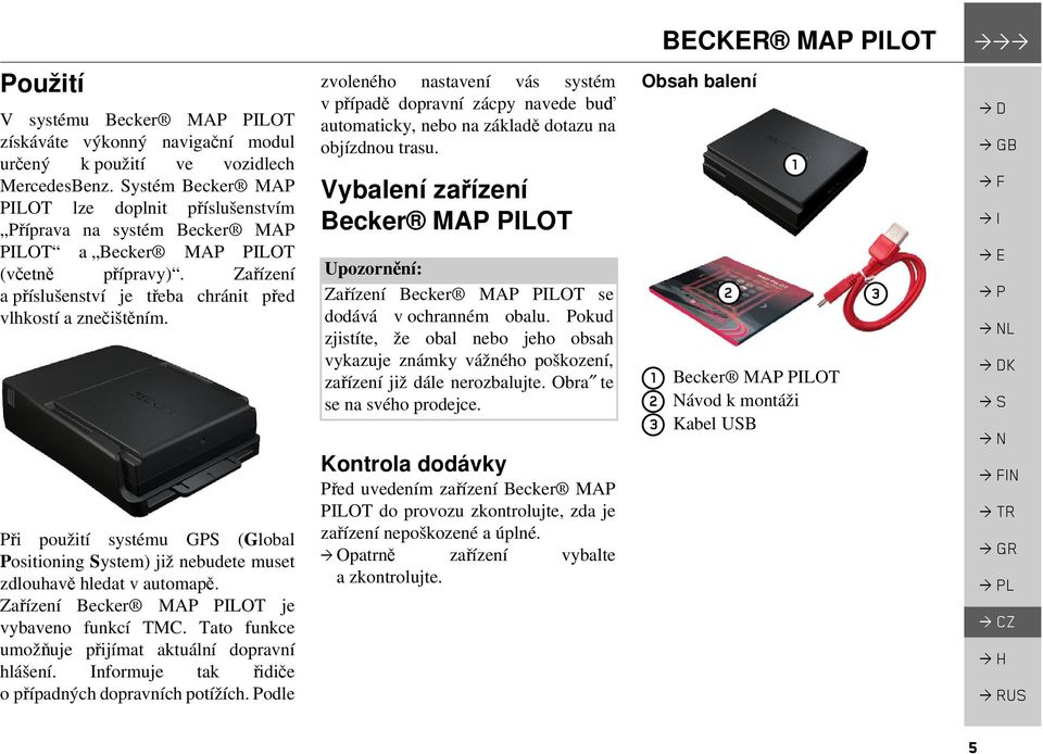 becker map pilot n vod k obsluze pdf. Black Bedroom Furniture Sets. Home Design Ideas
