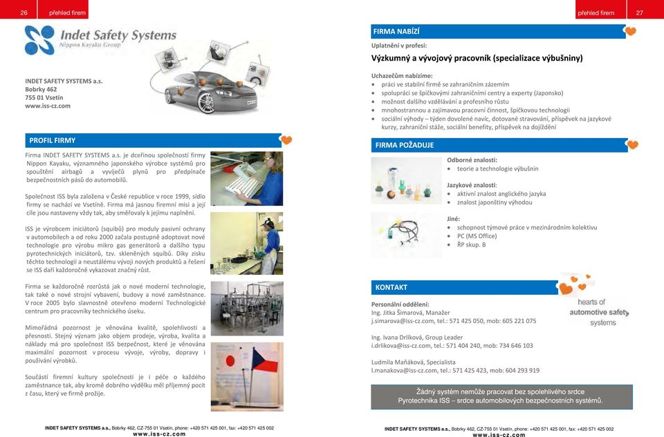 SAFETY SYSTEMS a.s.