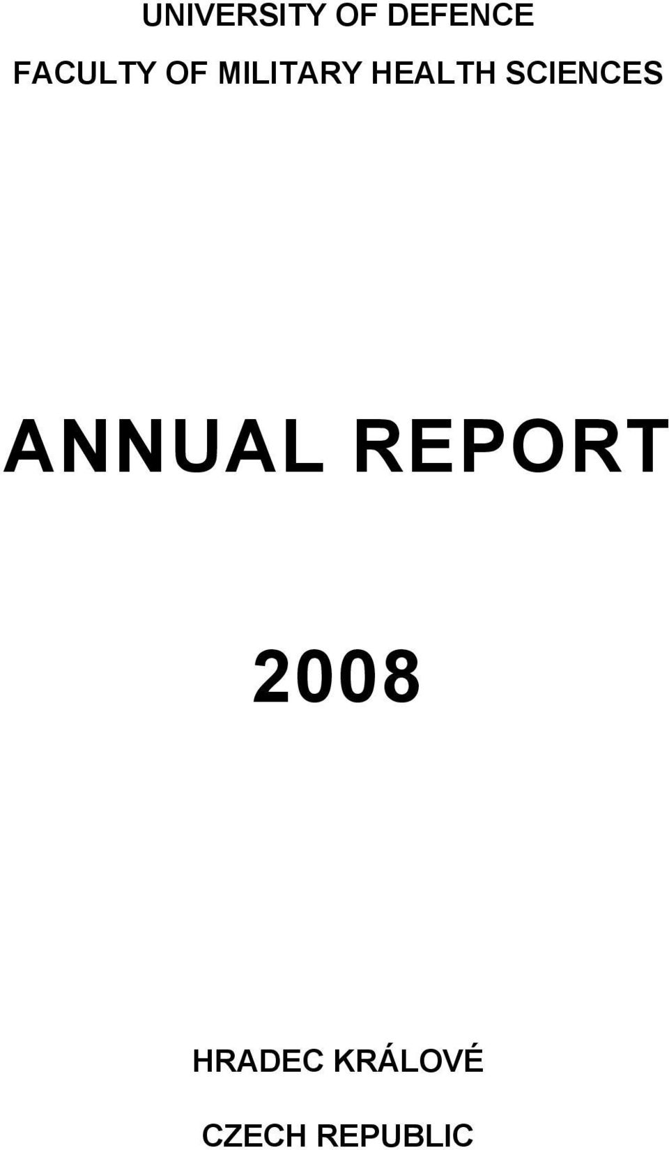 SCIENCES ANNUAL REPORT