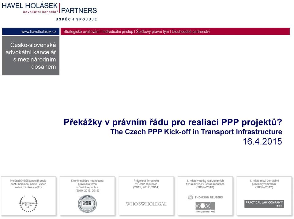 The Czech PPP Kick-off in
