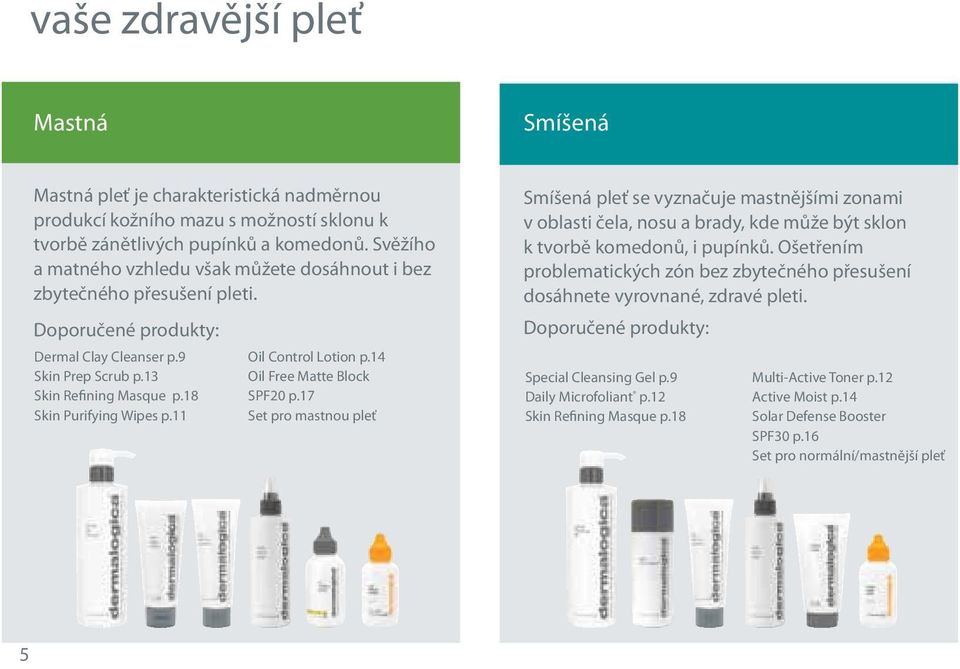 11 Oil Control Lotion p.14 Oil Free Matte Block SPF20 p.