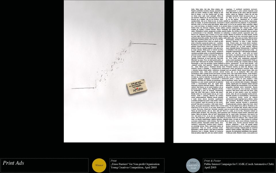 Silver Czech ADC s Award Print & Poster Public