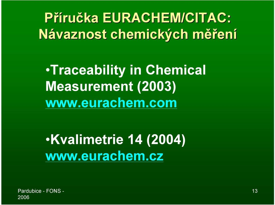Chemical Measurement (2003) www.