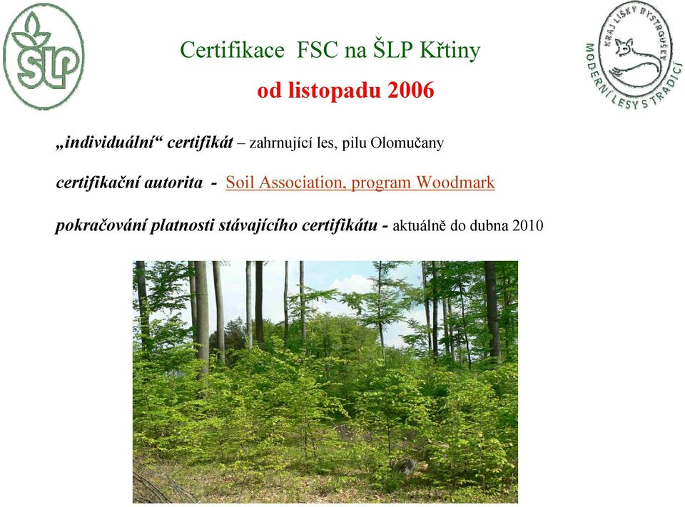certifikační autorita - Soil Association, program