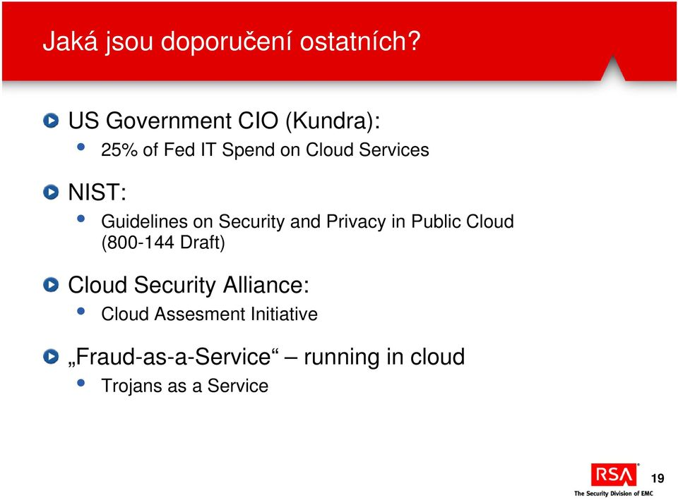 NIST: Guidelines on Security and Privacy in Public Cloud (800-144