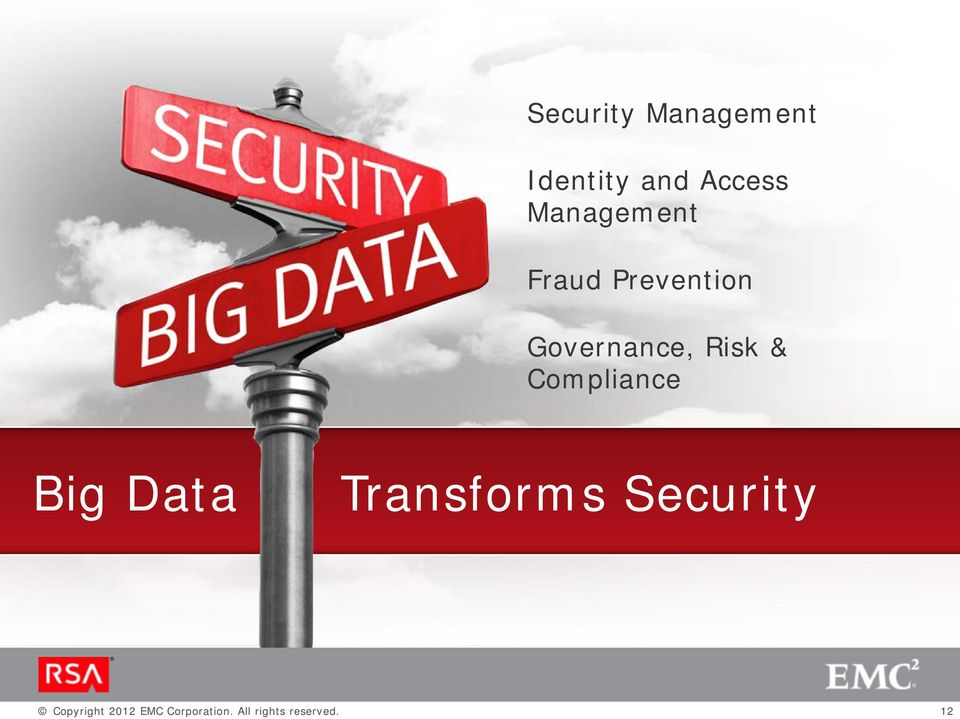 & Compliance Big Data Transforms Security