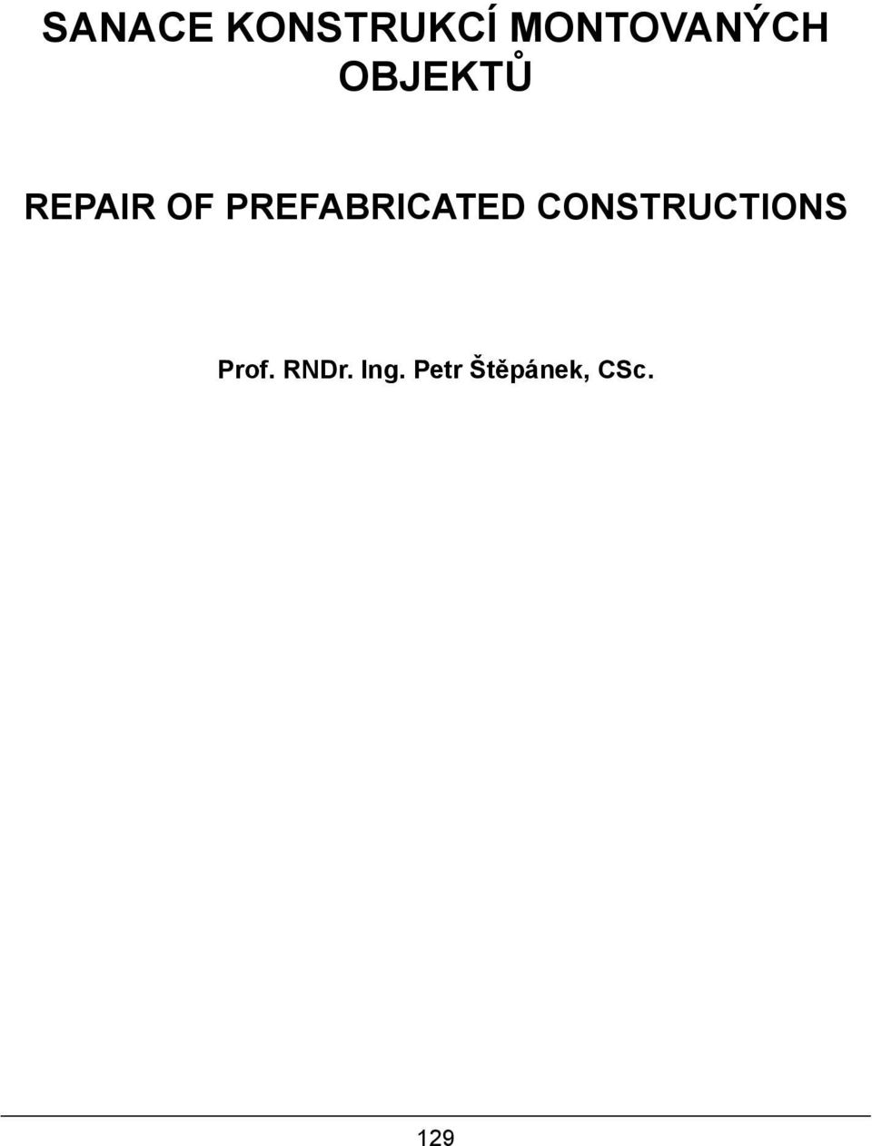 OF PREFABRICATED