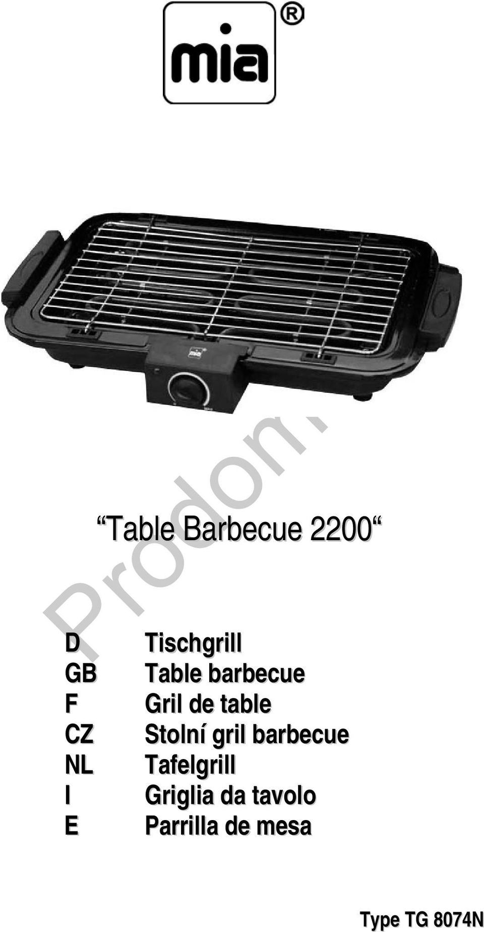 Stolní gril barbecue NL Tafelgrill I