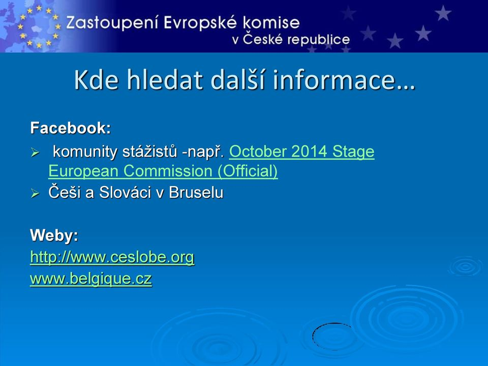 October 2014 Stage European Commission