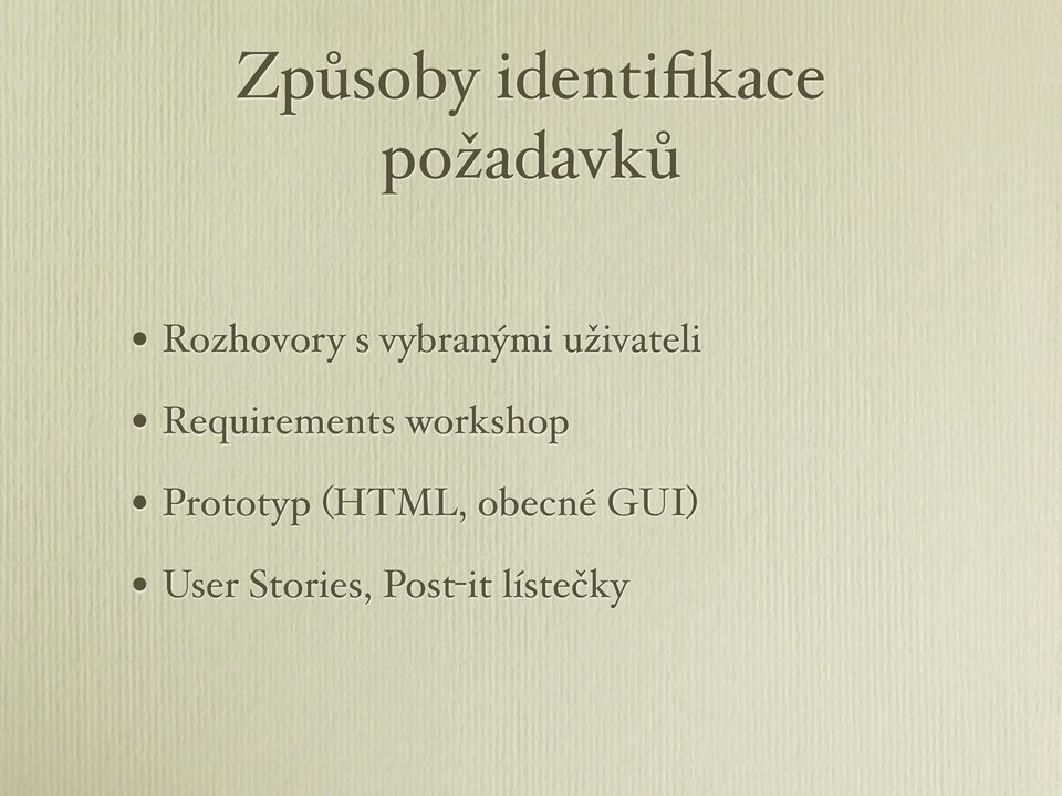 Requirements workshop Prototyp