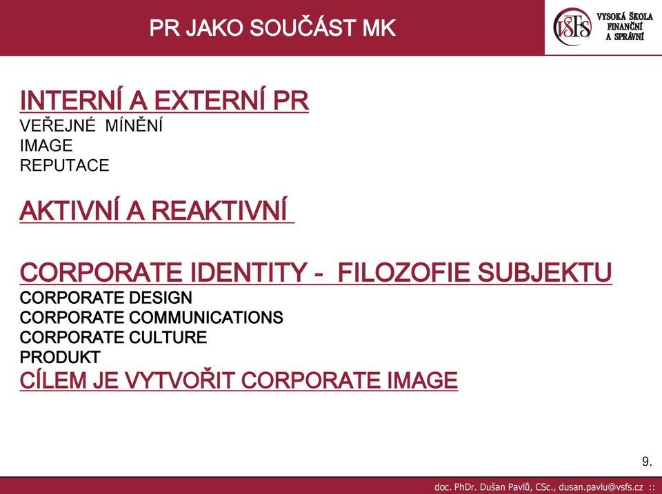 SUBJEKTU CORPORATE DESIGN CORPORATE COMMUNICATIONS