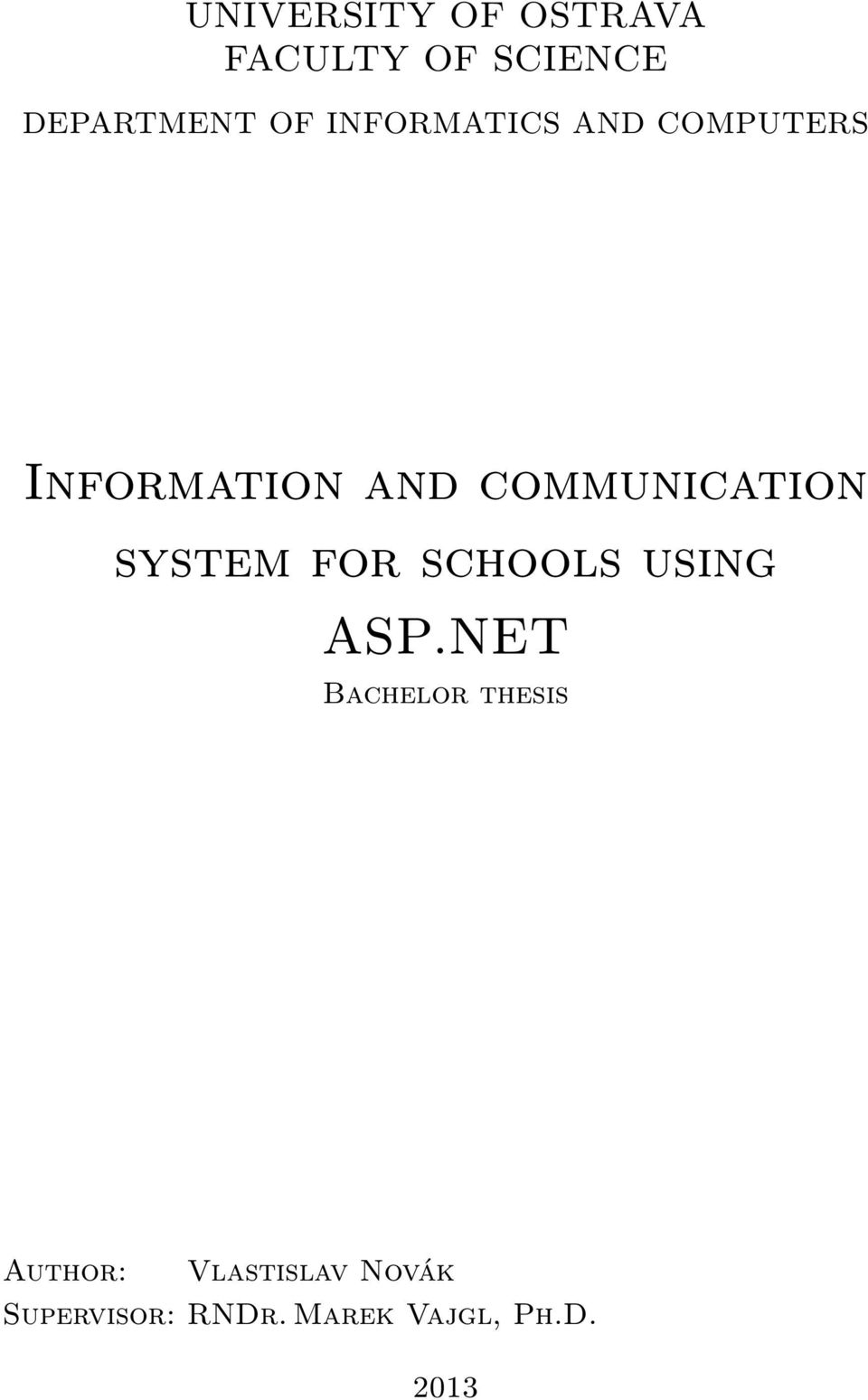 system for schools using ASP.
