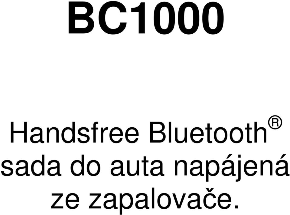 Bluetooth sada