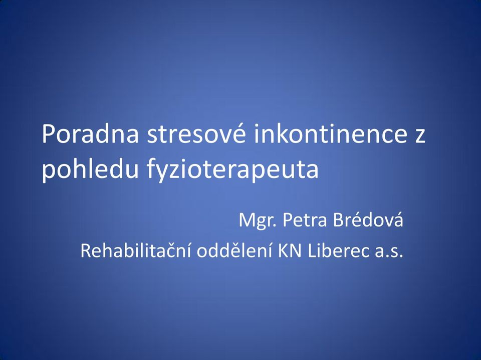 fyzioterapeuta Mgr.