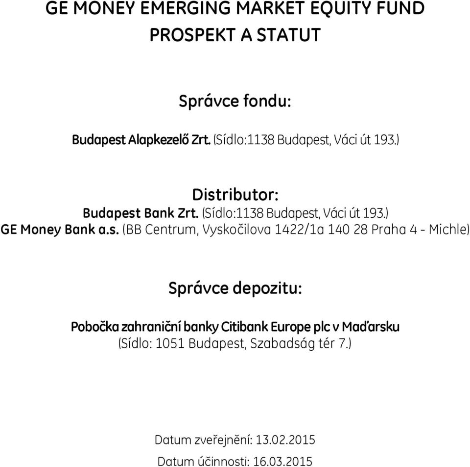 ) GE Money Bank a.s.