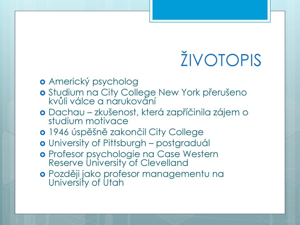 zakončil City College University of Pittsburgh postgraduál Profesor psychologie na Case