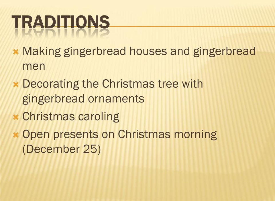 with gingerbread ornaments Christmas caroling