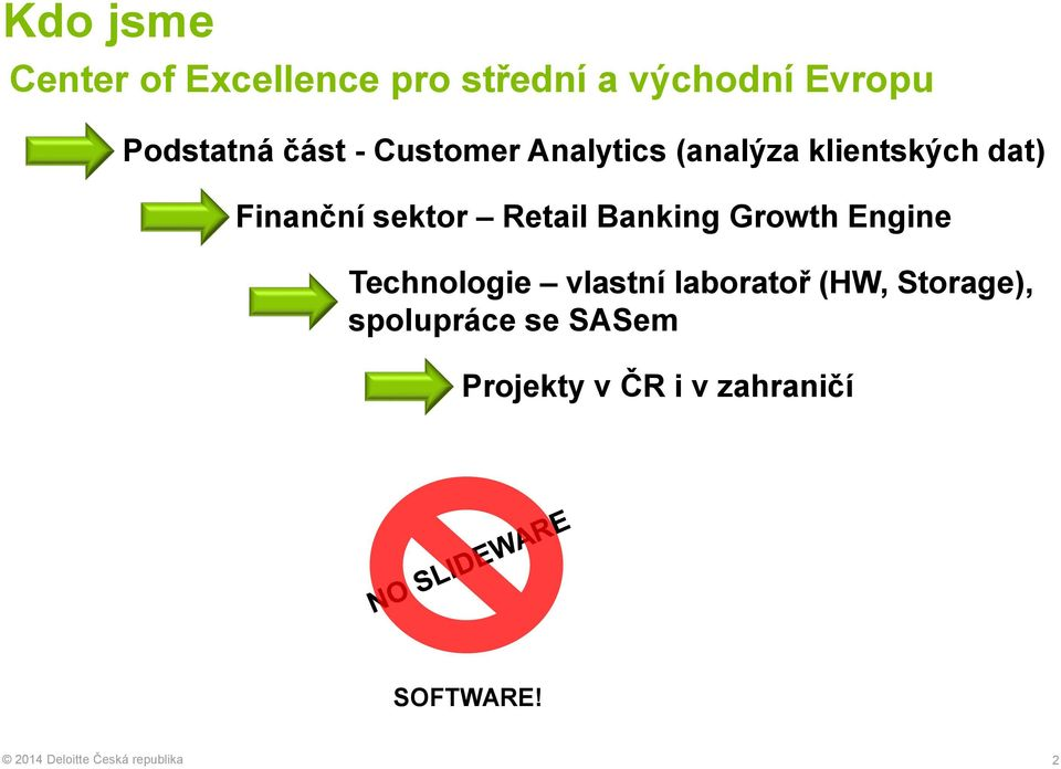 Banking Growth Engine Technologie vlastní laboratoř (HW, Storage),