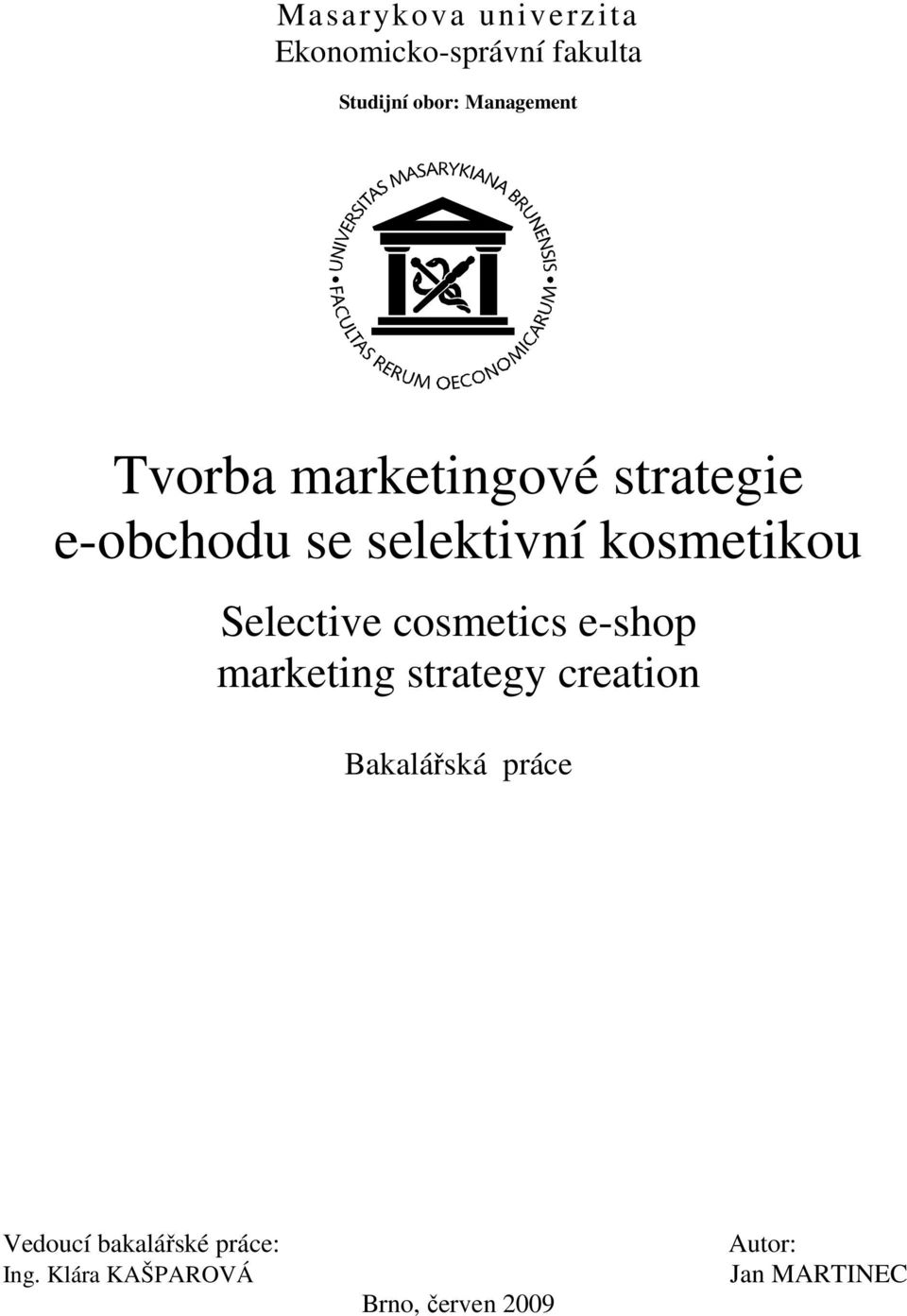 kosmetikou Selective cosmetics e-shop marketing strategy creation