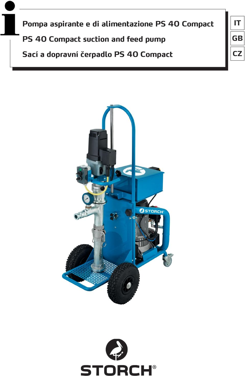 Compact suction and feed pump