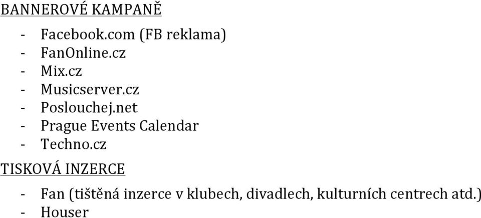 net - Prague Events Calendar - Techno.