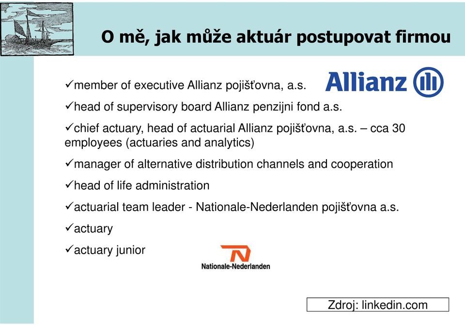 manager of alternative distribution channels and cooperation head of life administration actuarial team