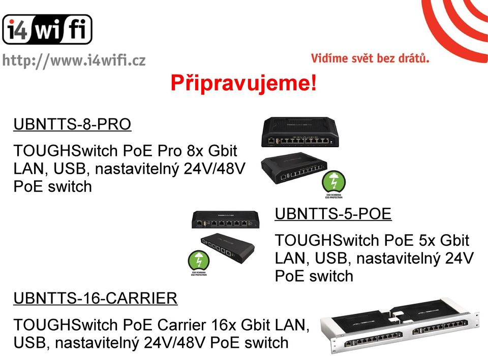 switch TOUGHSwitch PoE Carrier 16x Gbit LAN, USB, nastavitelný