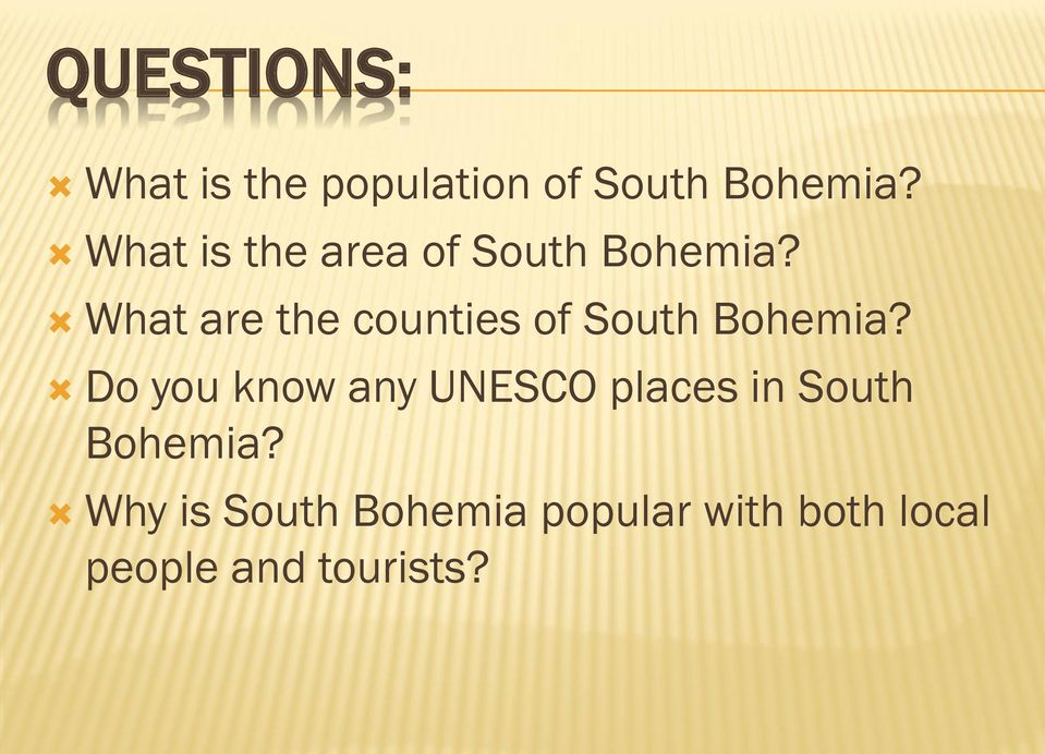What are the counties of South Bohemia?