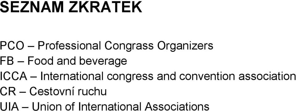 International congress and convention
