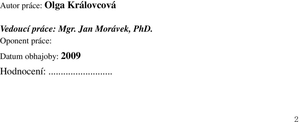 Jan Morávek, PhD.