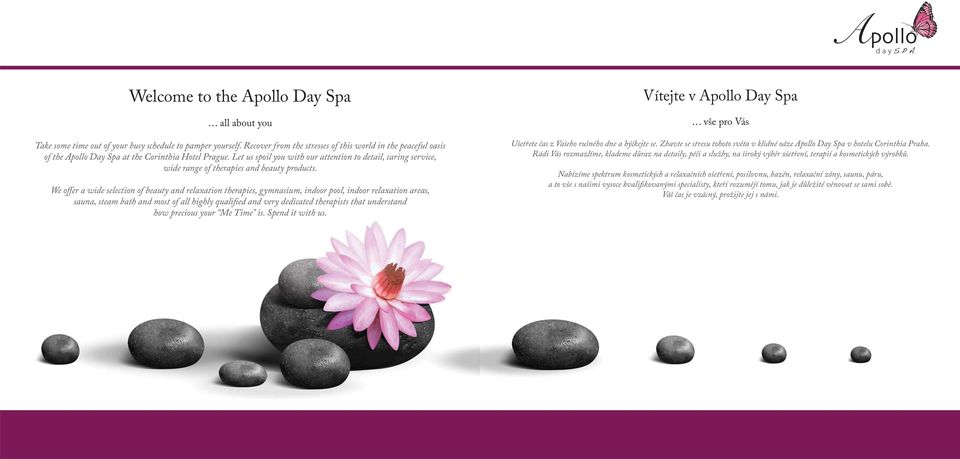 Let us spoil you with our attention to detail, caring service, wide range of therapies and beauty products.